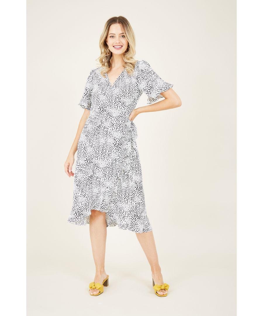 Image for Animal Print Wrap Dress