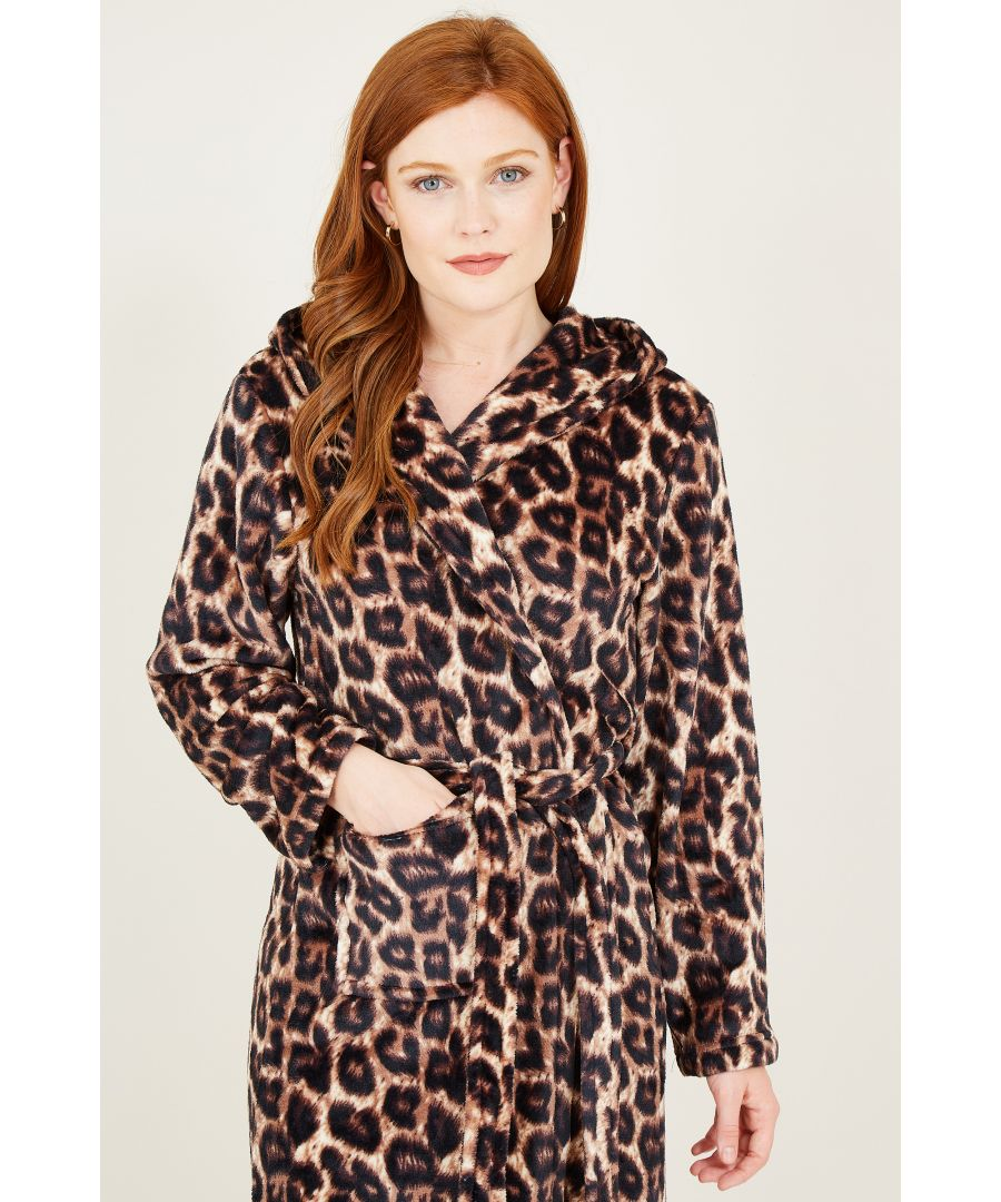 Image for Yumi Leopard Hooded Robe