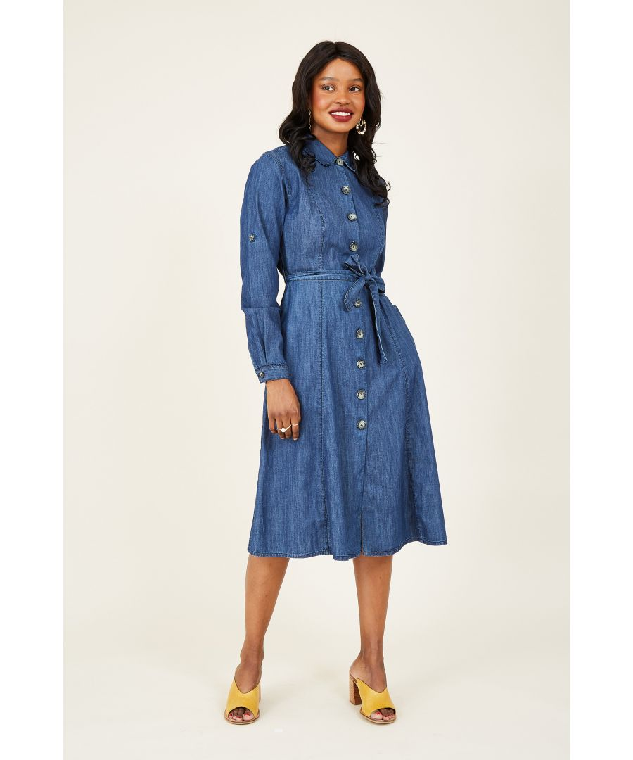 Image for Denim Shirt Dress