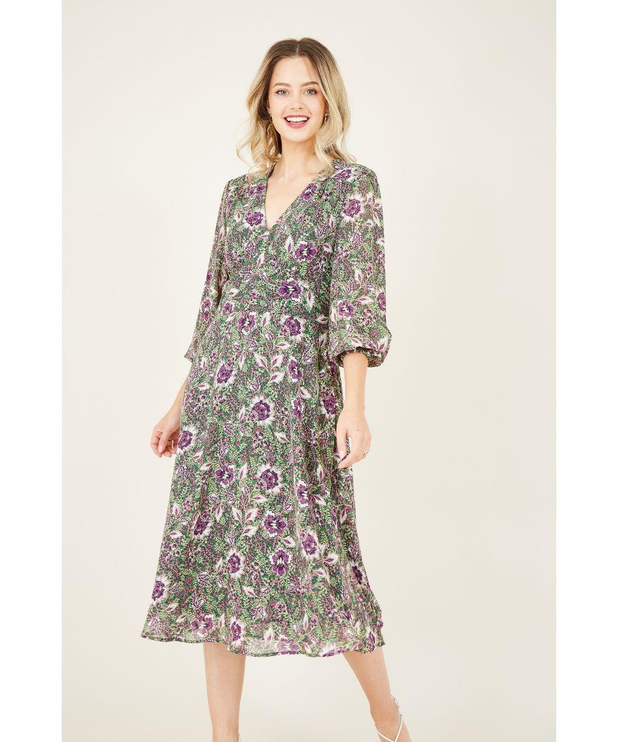 Image for Green Paisley Kimono Dress