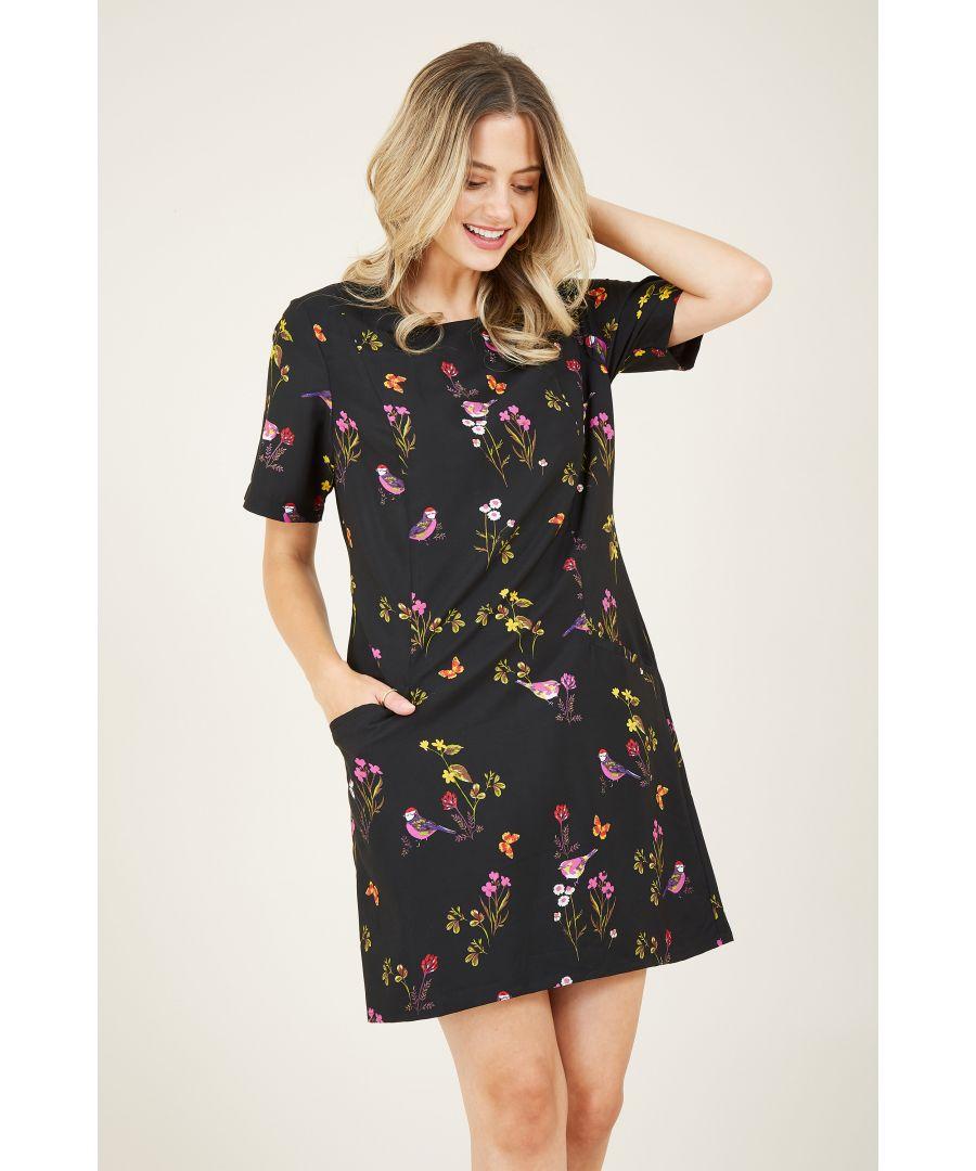 Image for Bird  Print Tunic Dress