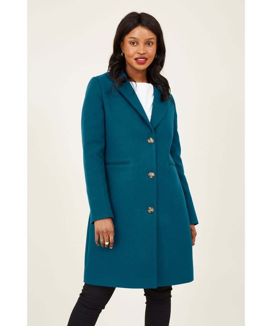 Image for Yumi Teal Crombie Coat With Heart Lining