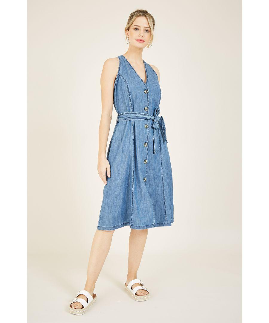 Image for Yumi Denim Shirt Dress