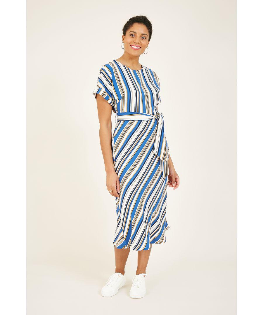 Image for Yumi Blue Stripe Day Dress