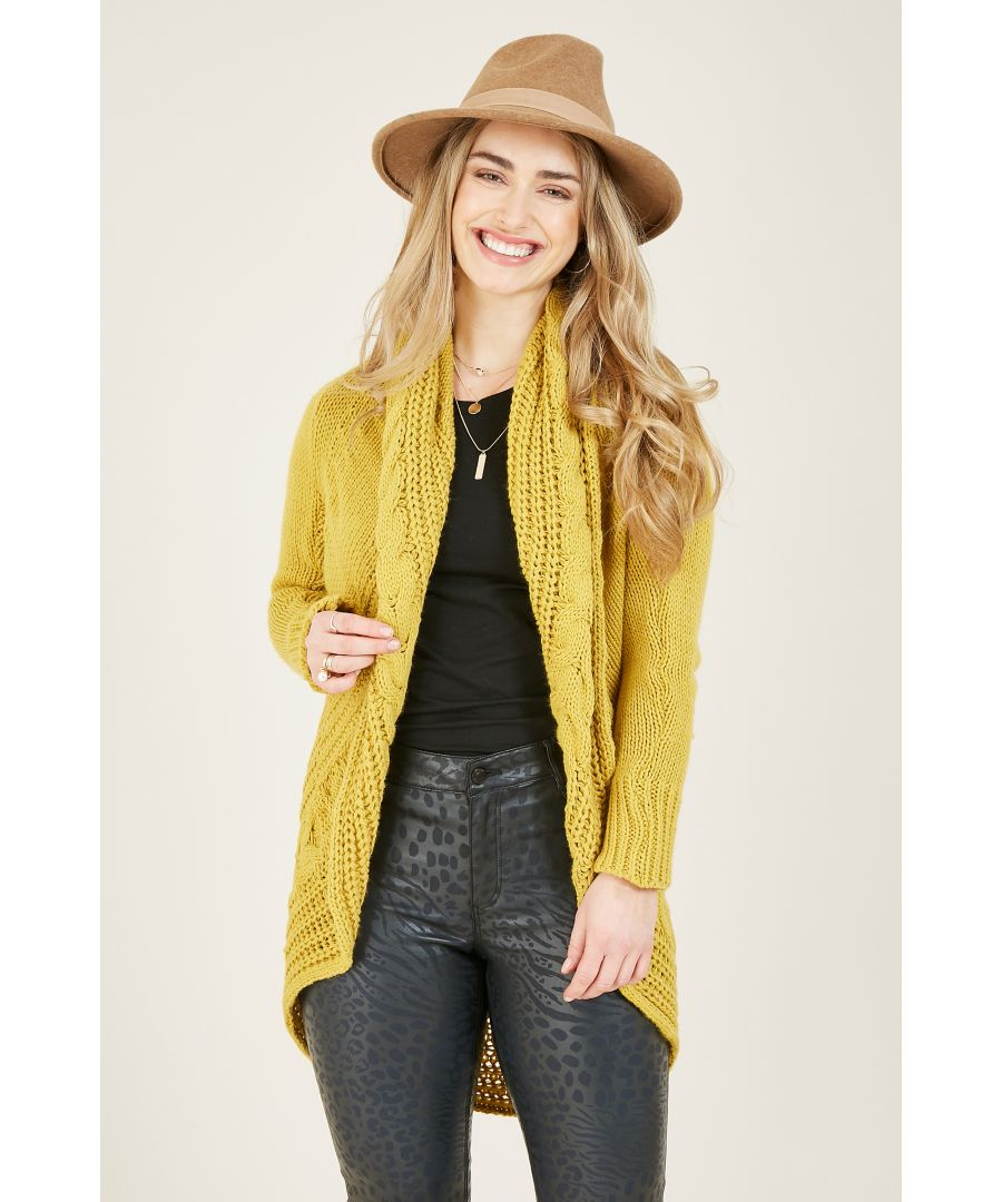 Image for Yumi Knitted Pleat Cardigan