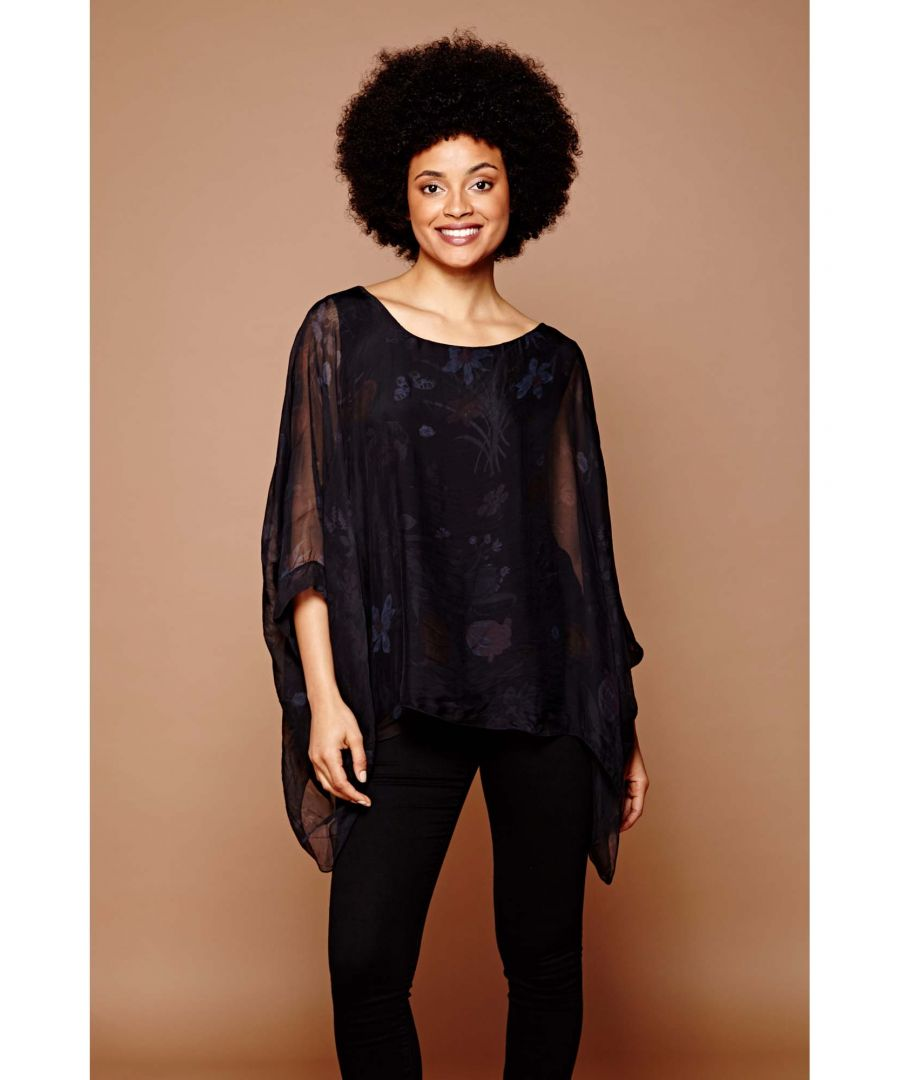 Image for Mango Rose Print Batwing Top