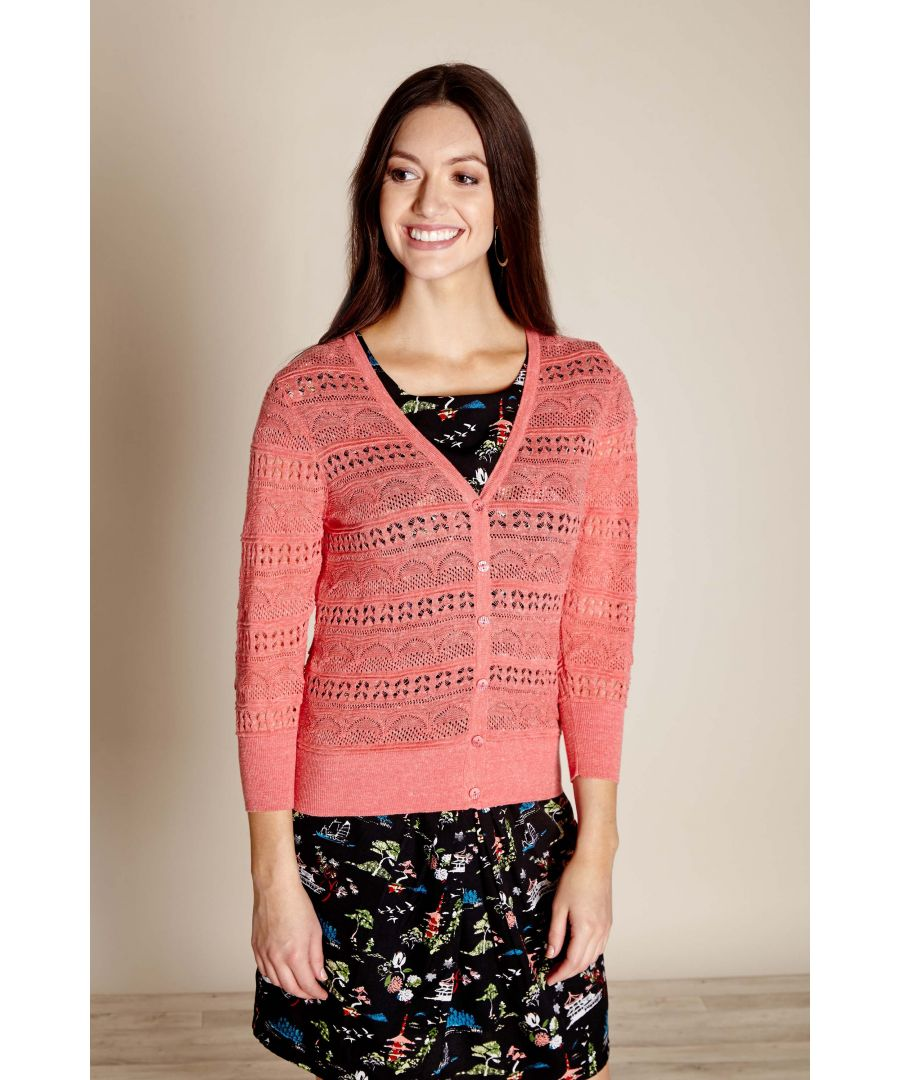 Image for Pointelle Stitch Cardigan