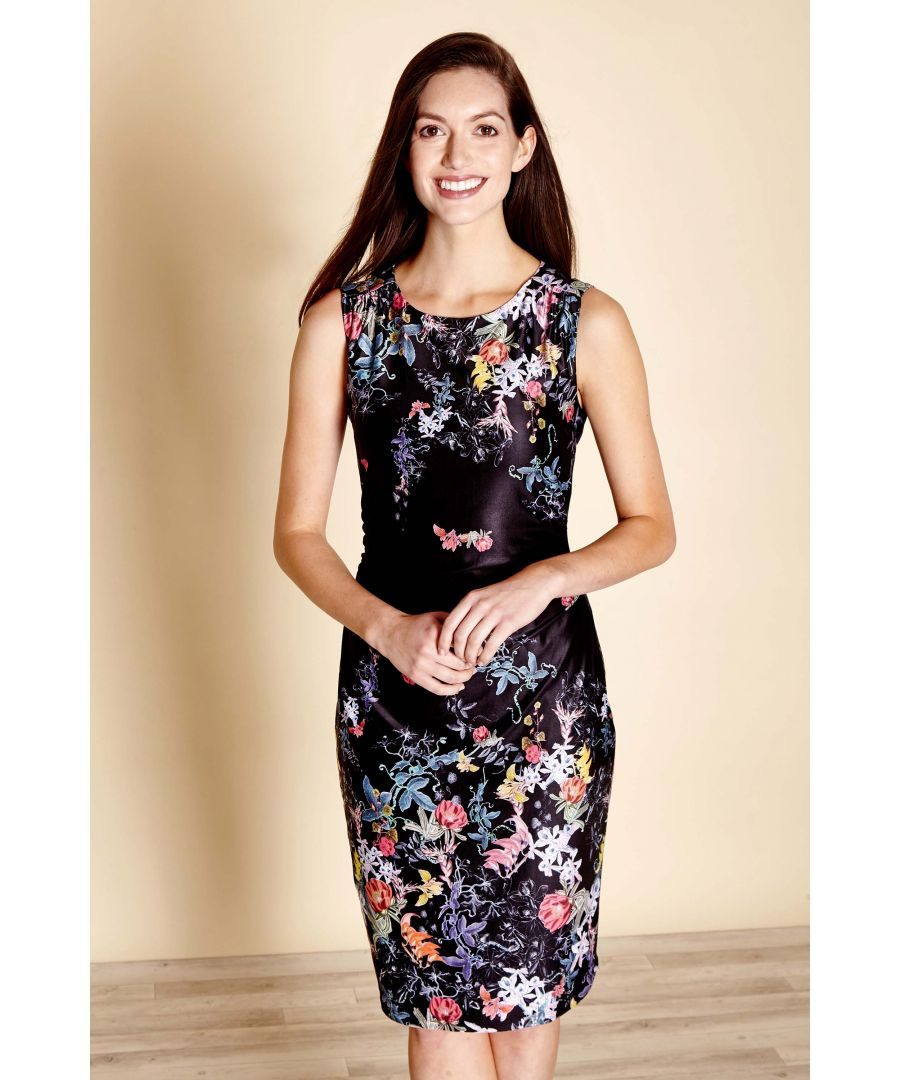 Image for Botanical Mirror Printed Ruched Jersey D