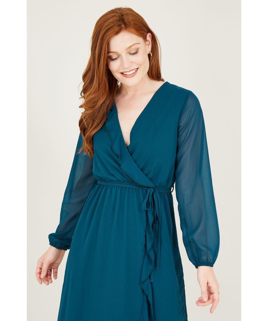 Image for Yumi Wrap Midi Dresss