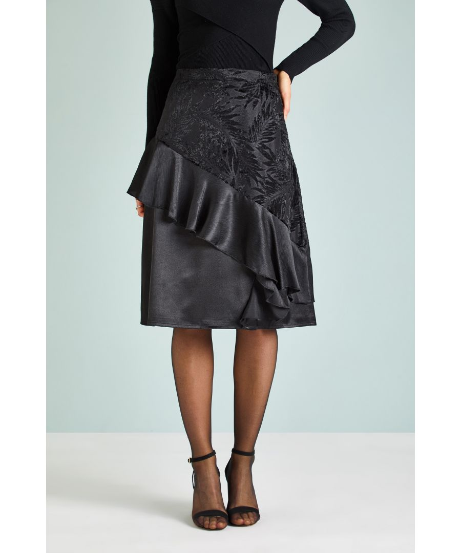 Image for MIXED TEXTURE SKIRT