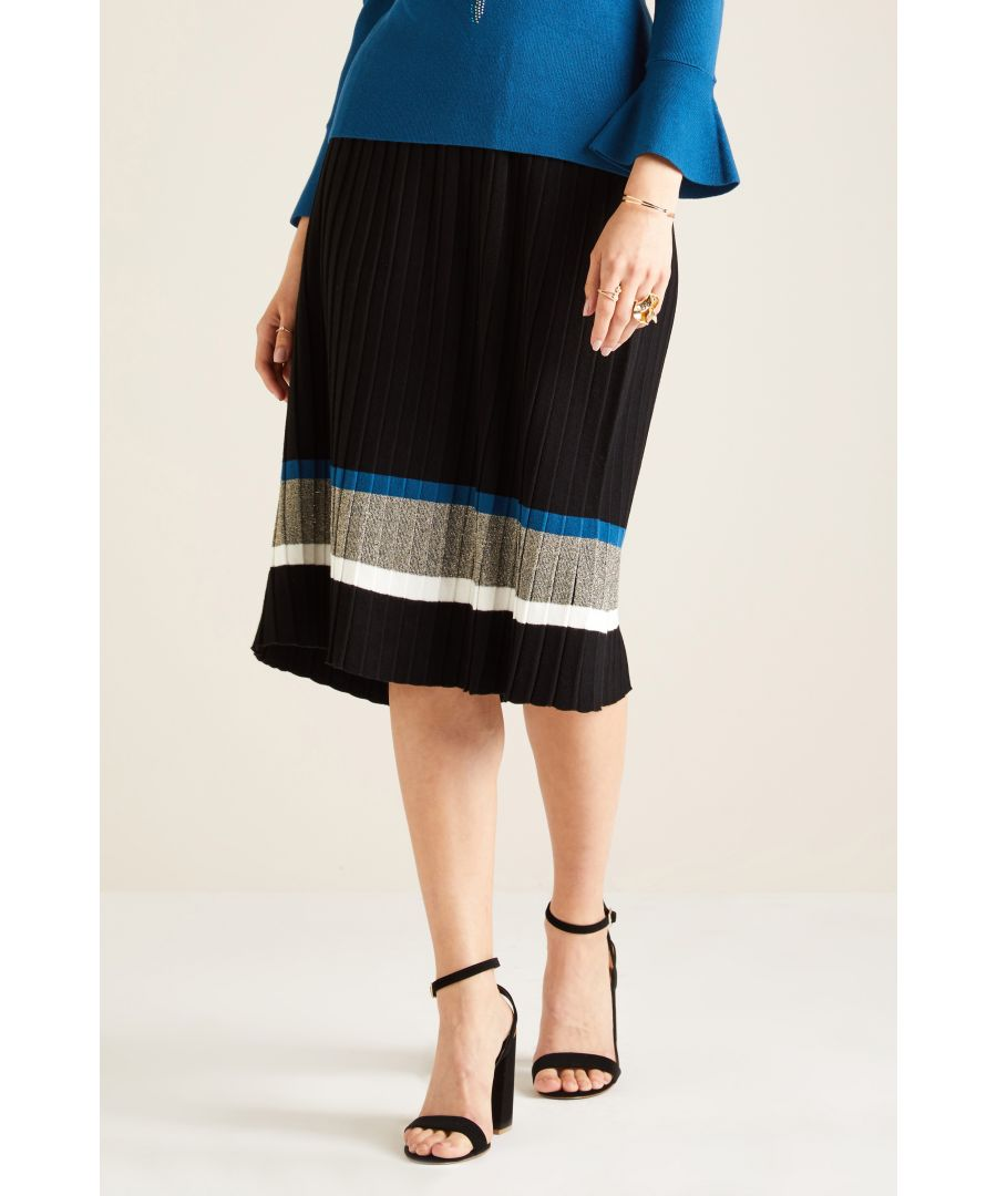 Image for KNITTED PLEAT SKIRT