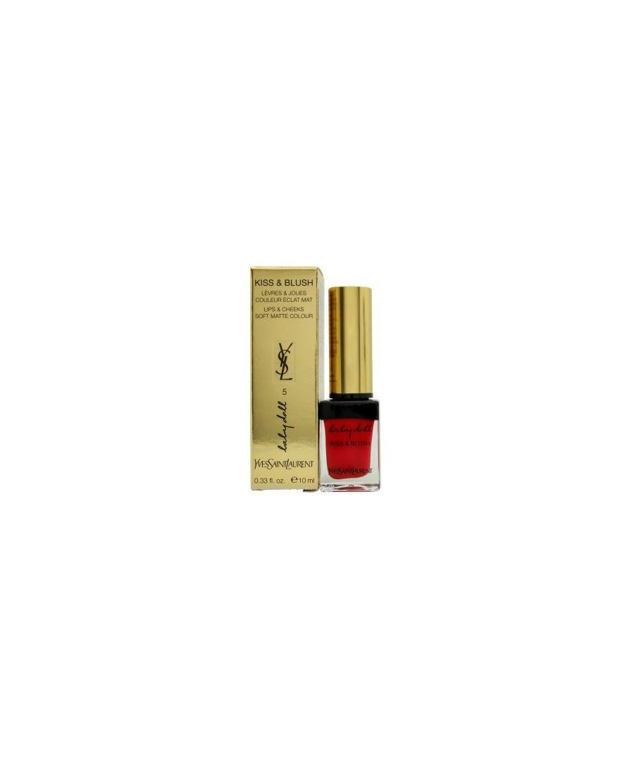 Image for YSL BABY DOLL KISS & BLUSH #05 ROUGE EFFRONTEE 10ML