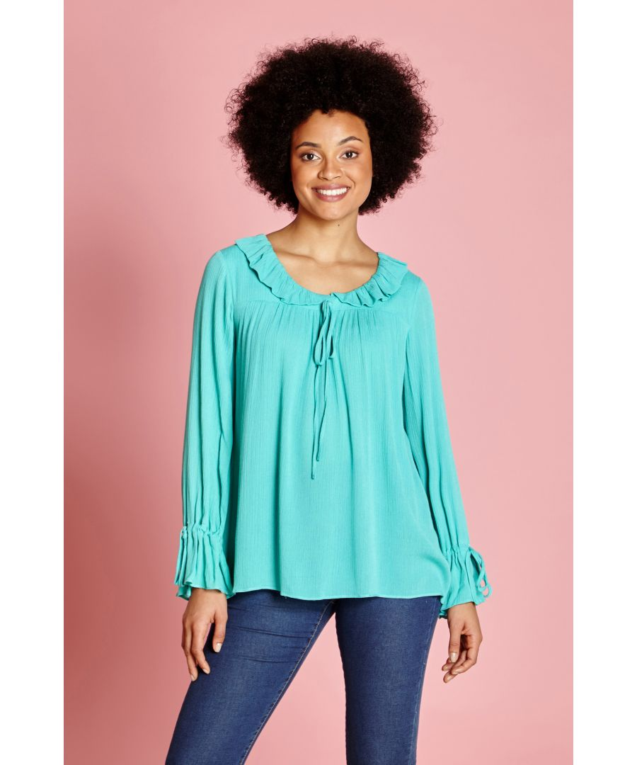 Image for RUFFLE COLLAR TOP