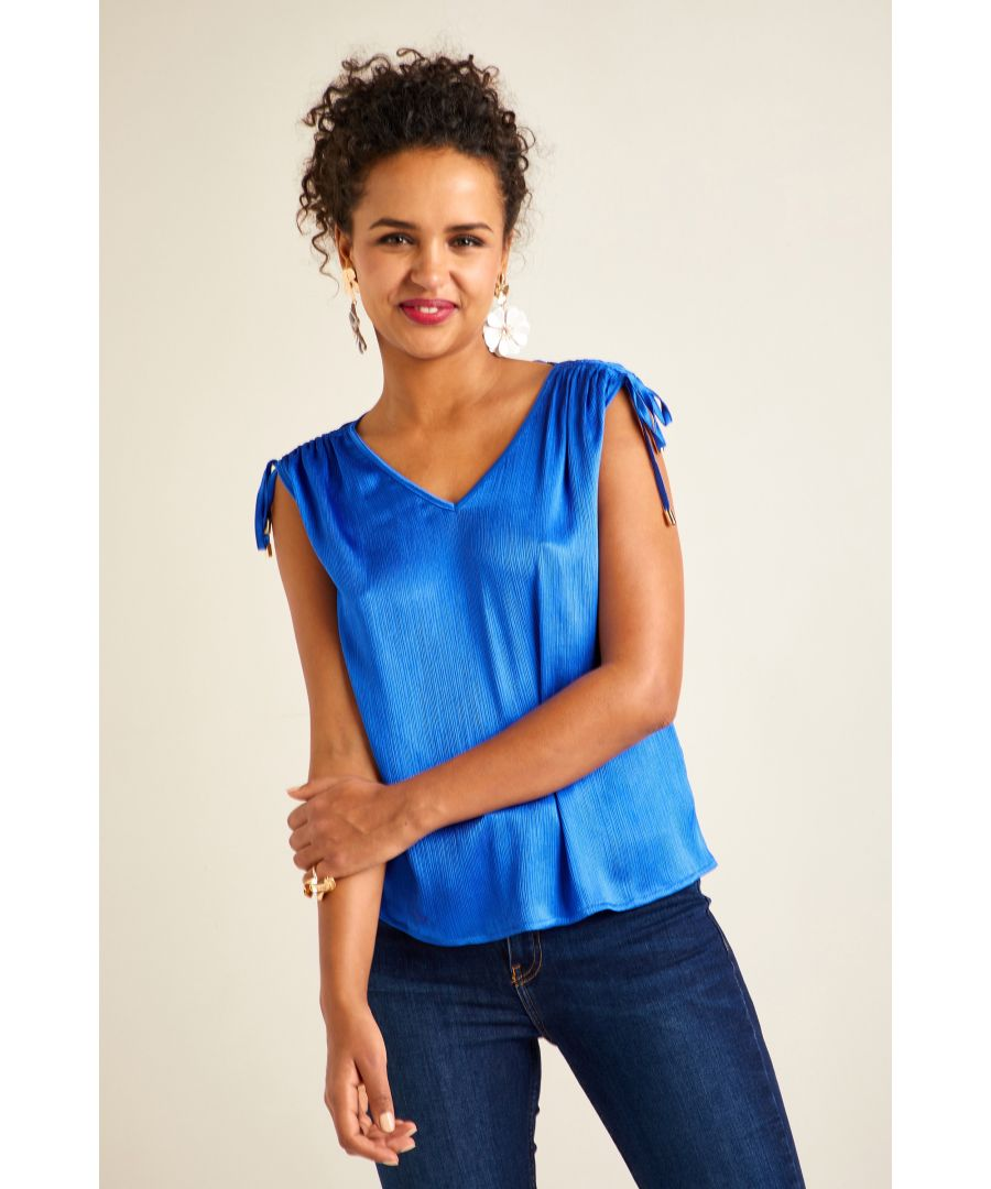 Image for Crinkle Drawstring Top