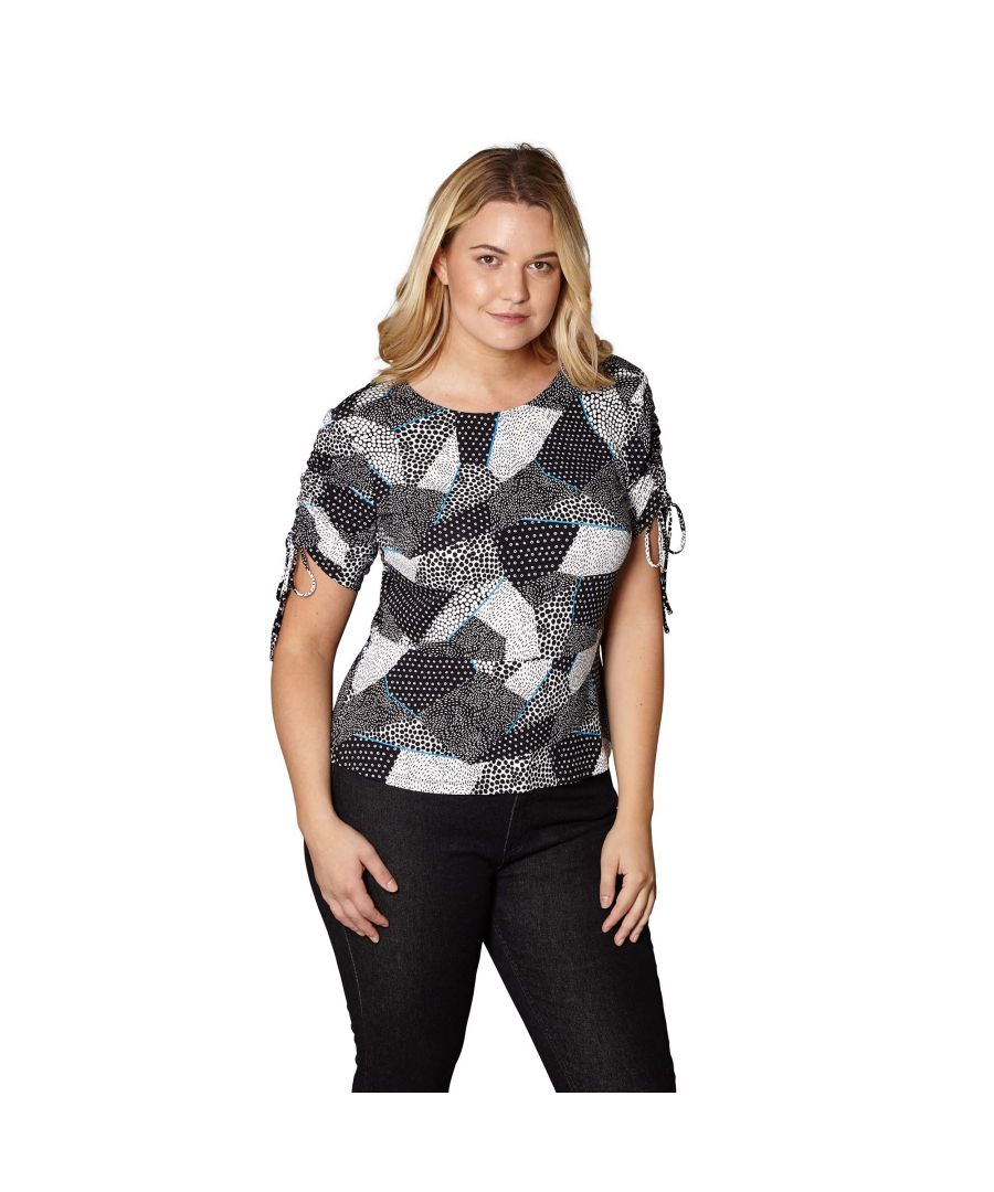 Image for MONO POP ROUCHED SLEEVE TOP