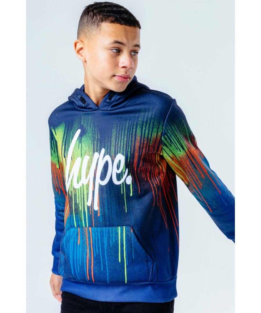 Image for Hype Ocean Drips Kids Pullover Hoodie