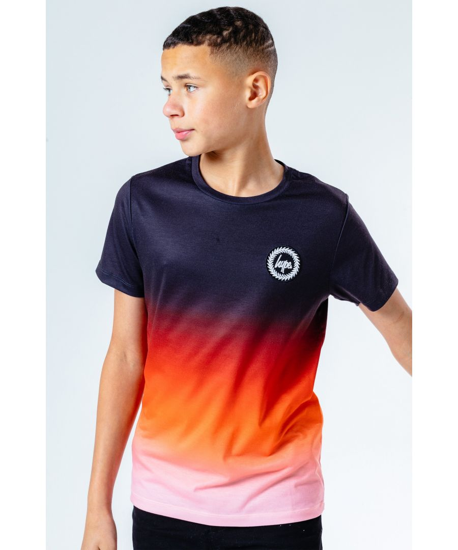 Image for Hype Sunset Fade Kids T-Shirt