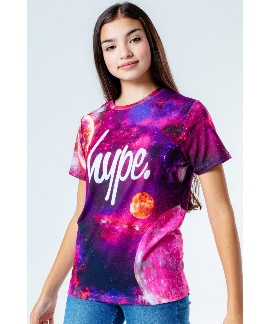 Image for Hype Pink Spacey Kids T-Shirt