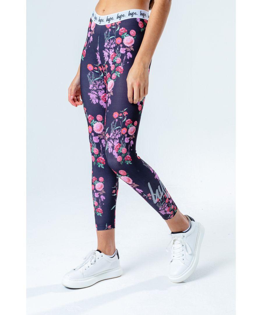 Image for Hype Ditsy Floral Kids Leggings