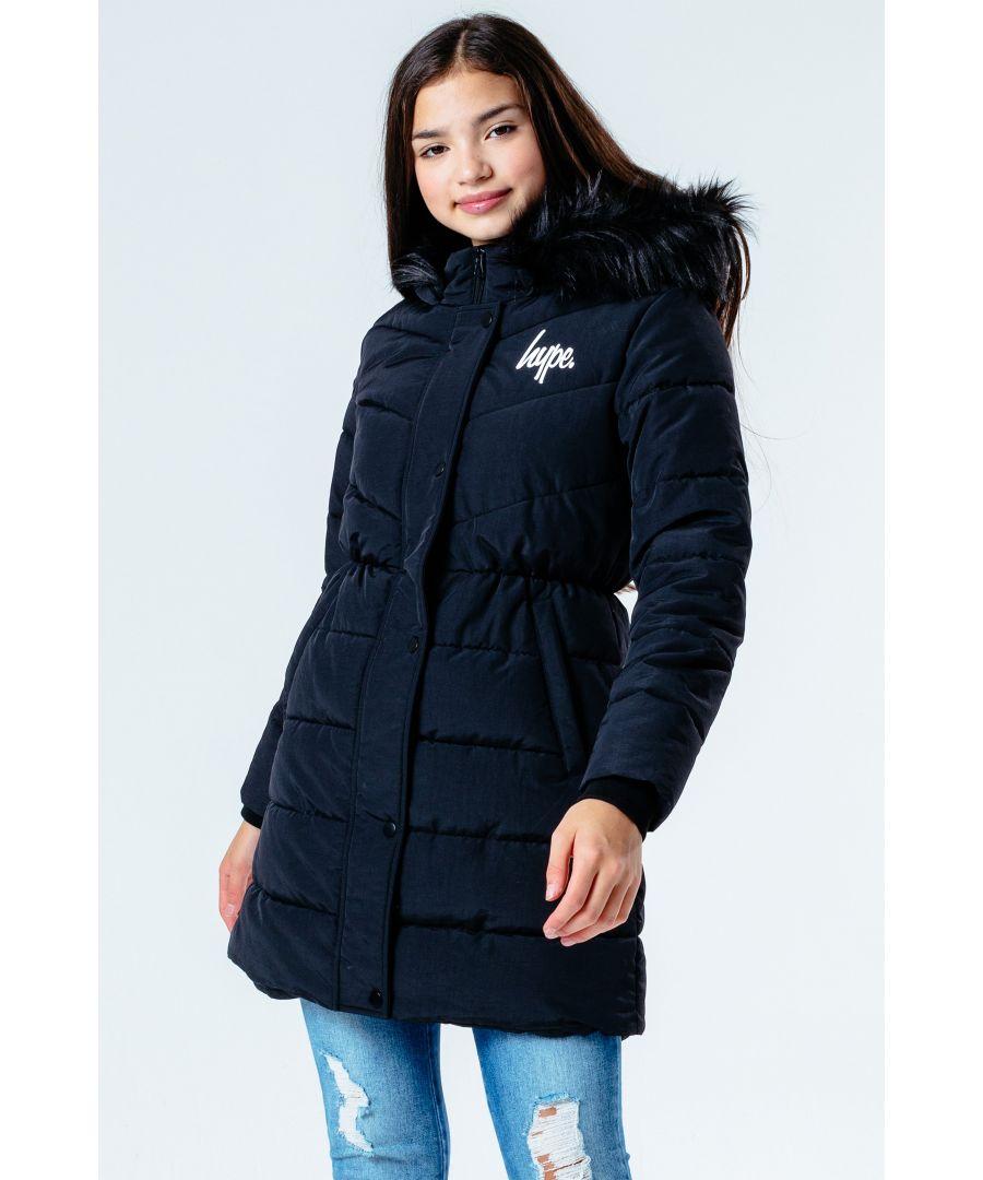 Image for Hype Black Fitted Parka Kids Jacket