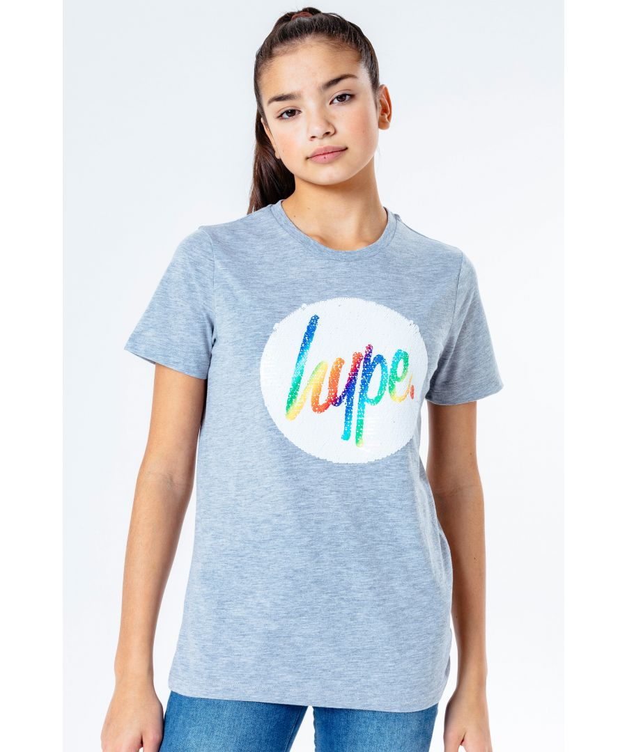 Image for Hype Rainbow Sequin Kids T-Shirt