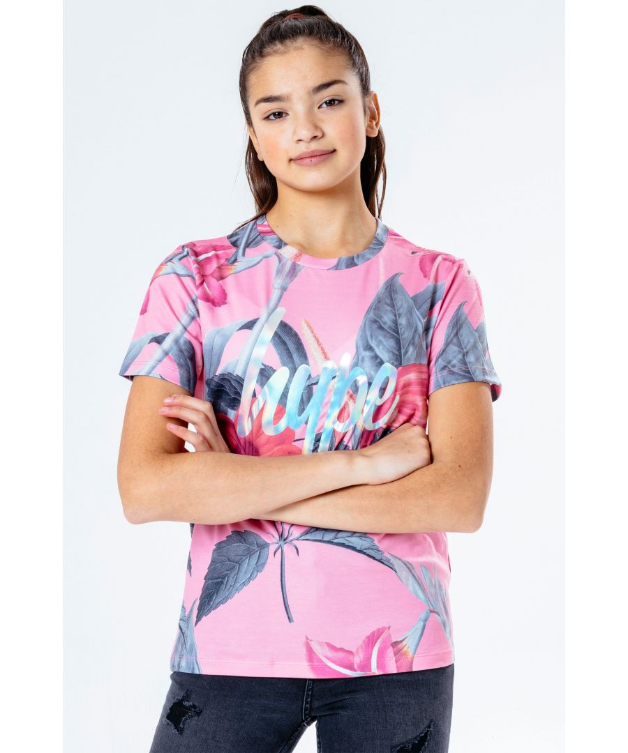 Image for Hype Pink Hawaii Kids T-Shirt