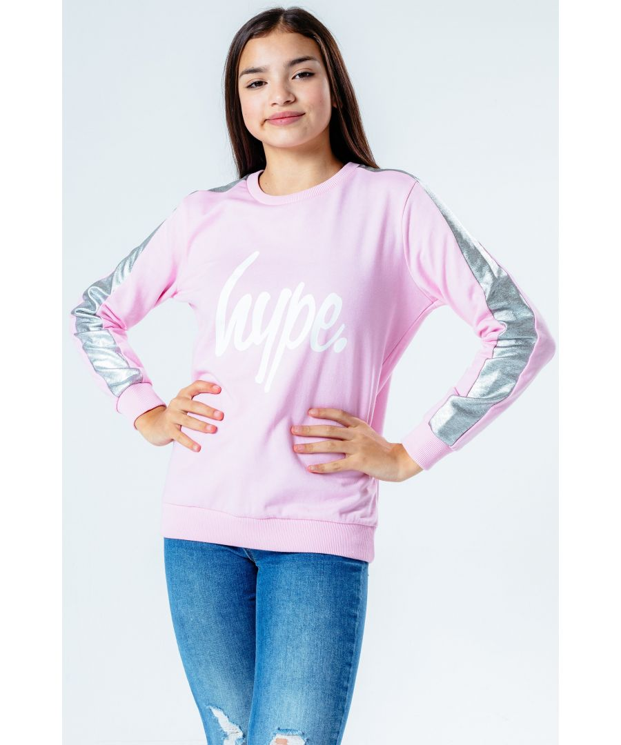 Image for Hype Holo Side Stripe Kids Crew Neck