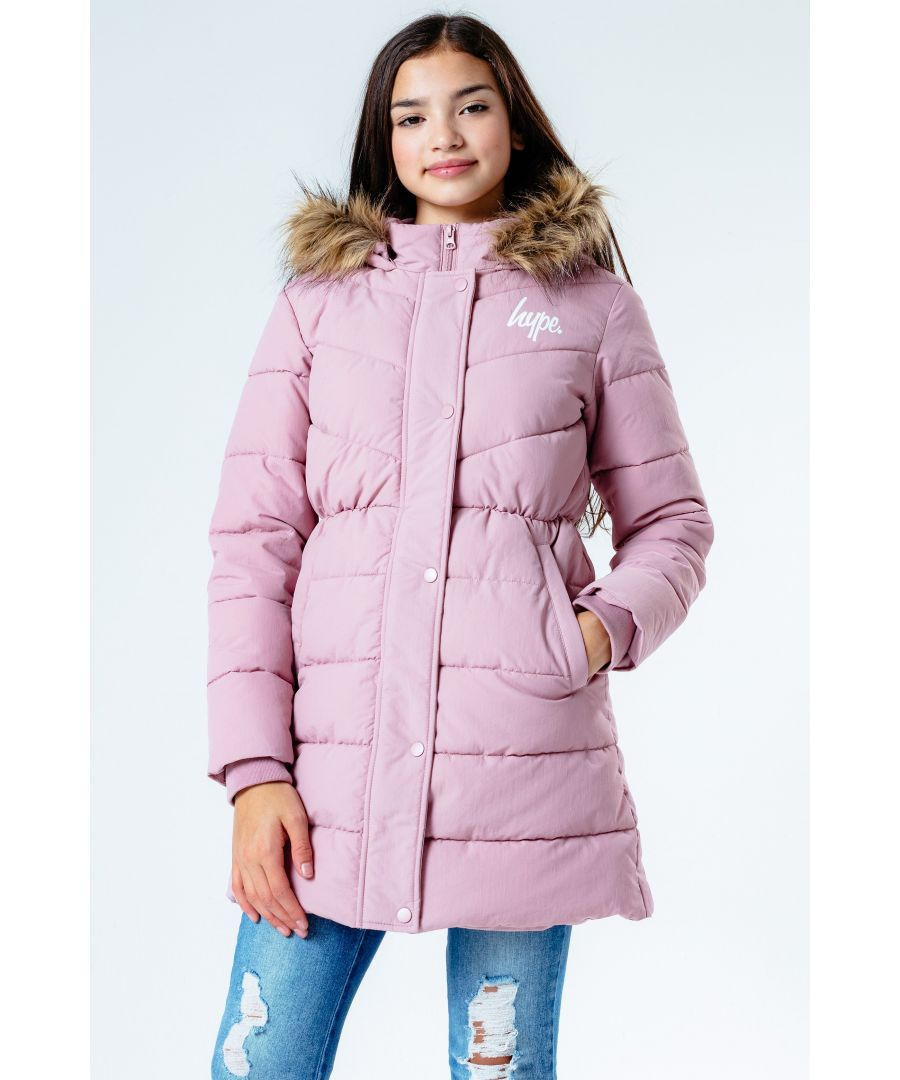 Image for Hype Pink Fitted Parka Kids Jacket