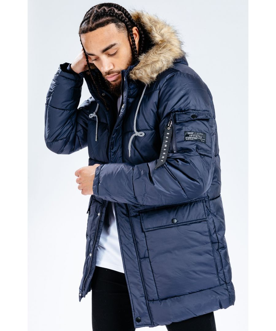 Image for Hype Navy Explorer Men's Jacket