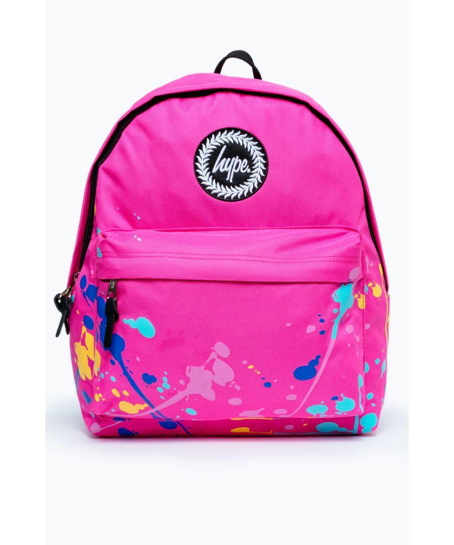 Image for Hype Pink Paint Splatter Backpack