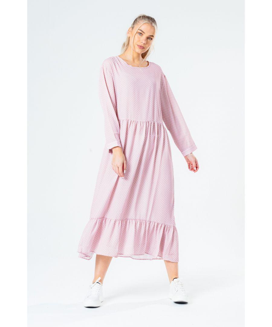 Image for Hype Pink Polka Women's Dot Dress