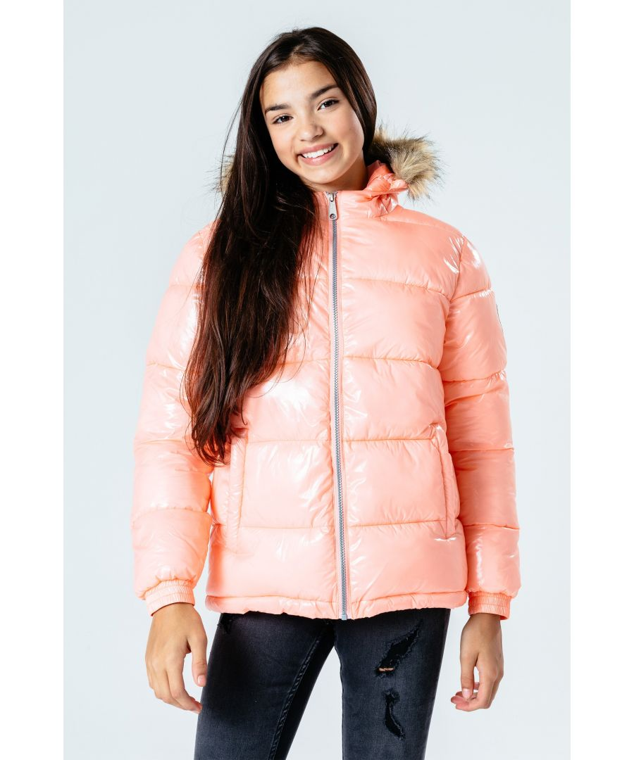 Image for Hype Rose Gold Gloss Kids Puffer Jacket