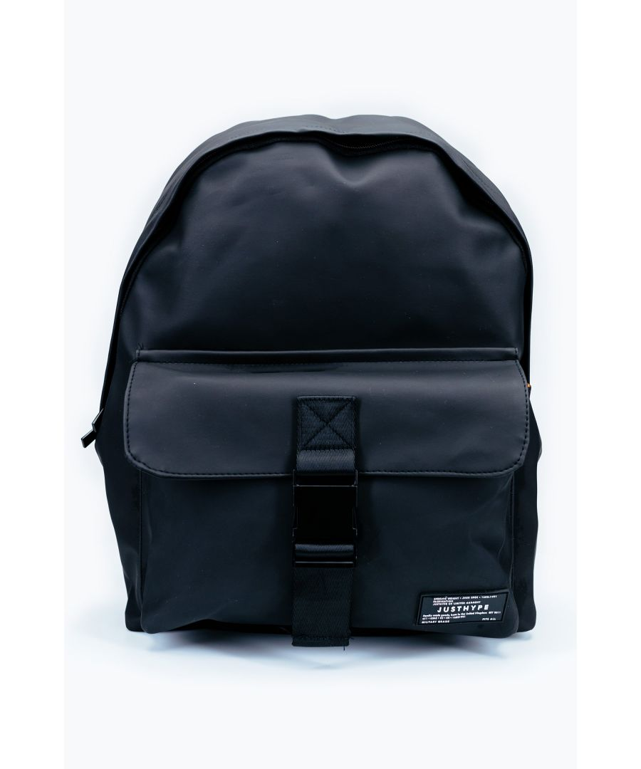 Image for Hype Black Leather Civil Backpack