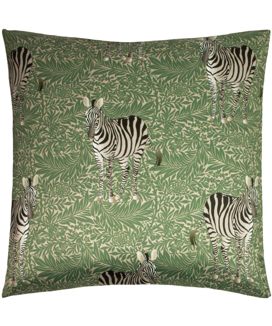 Image for Zebra Foliage Cushion