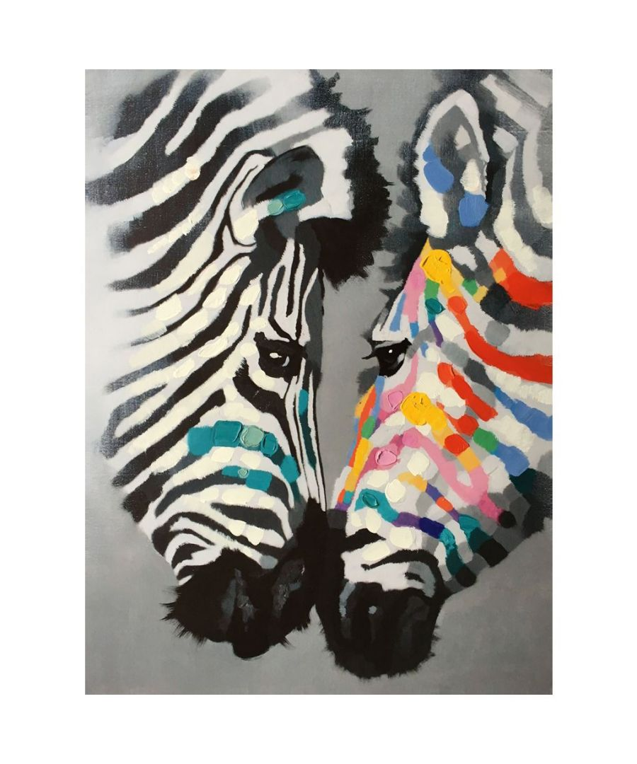 Image for Canvas Print - Colored Zebra Cm. 60x80