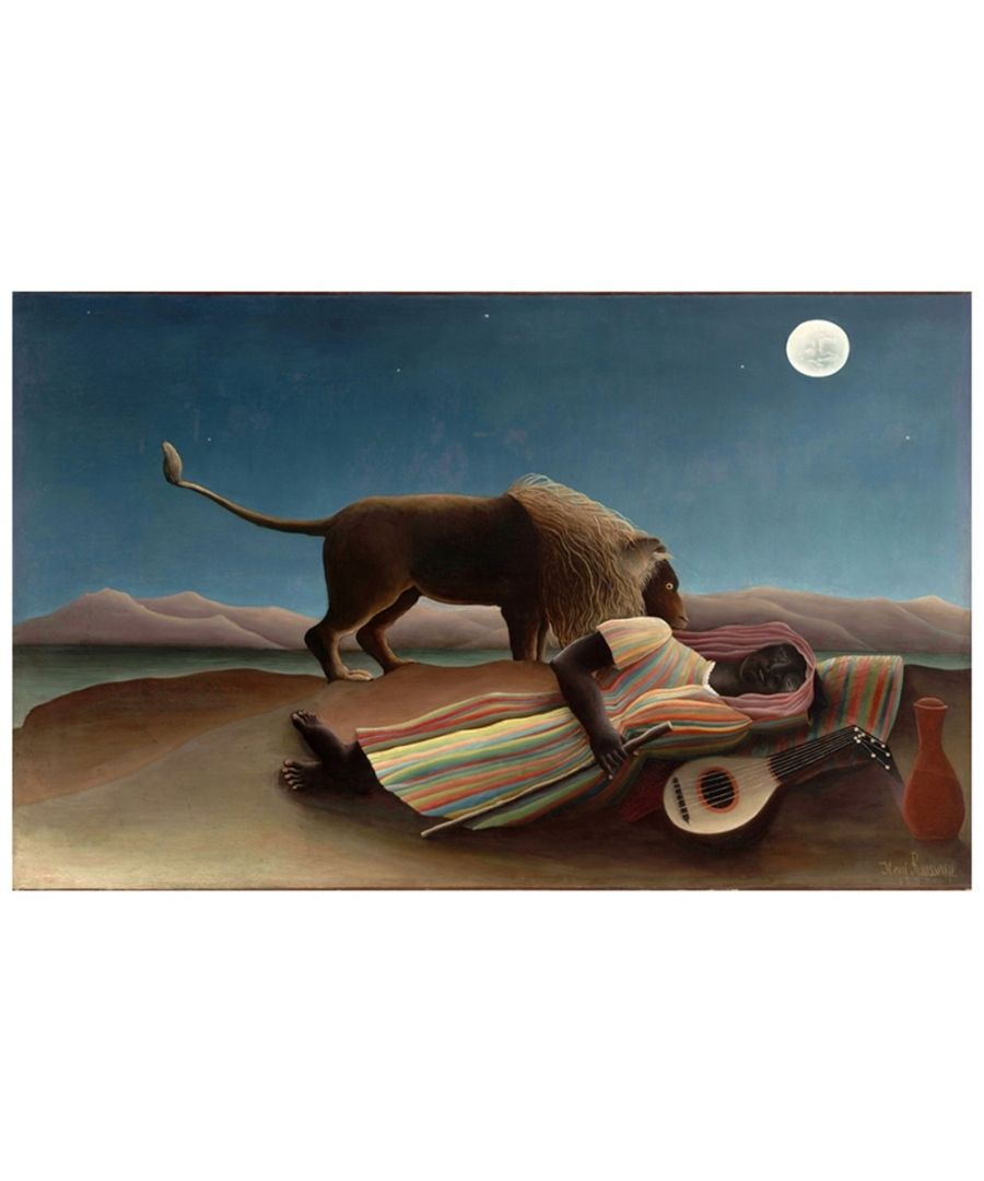 Image for Canvas Print - The Sleeping Gipsy - Henri Rousseau Cm. 50x80