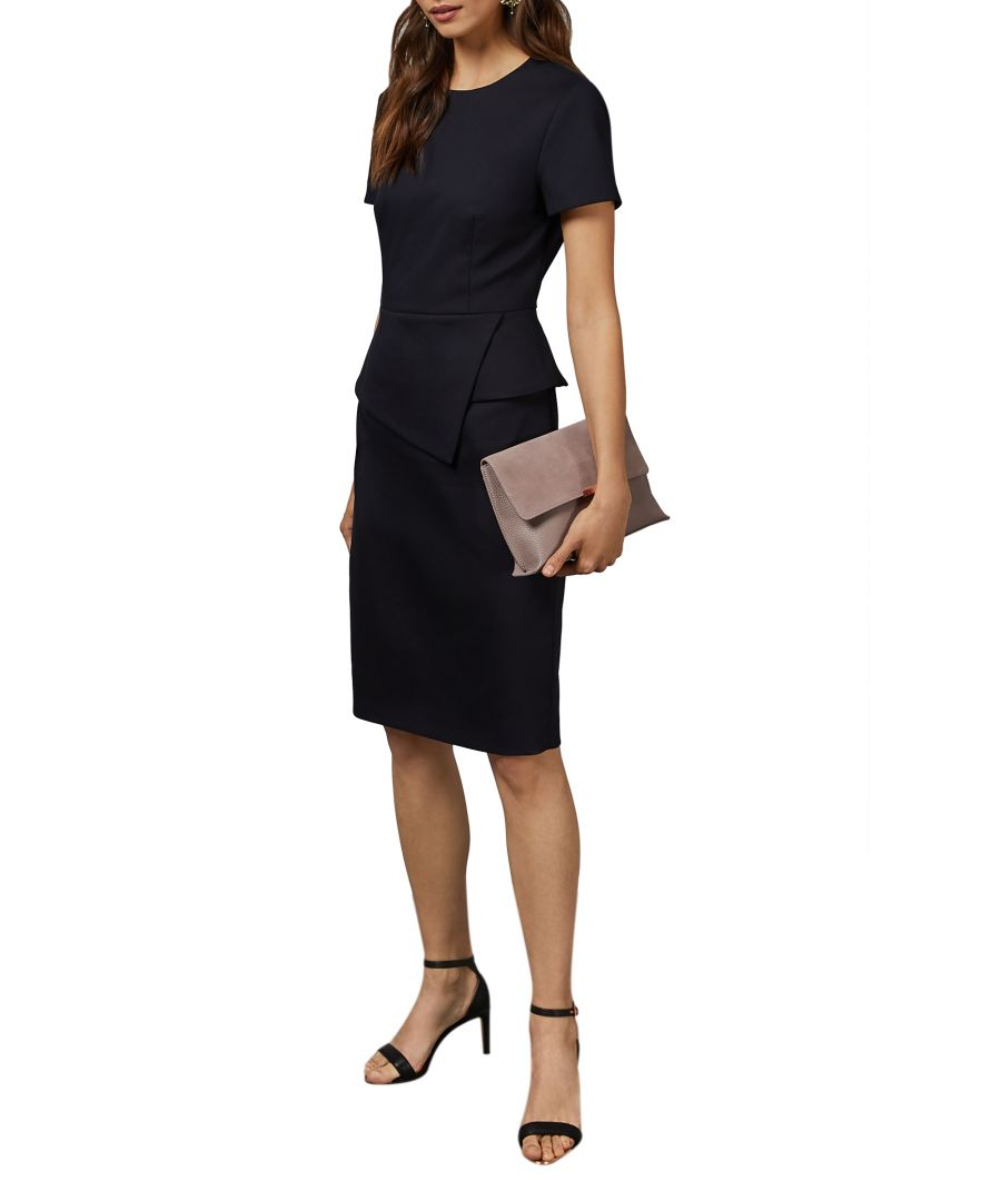 Image for Elynah Asymmetric Peplum Tailored Dress in Blue