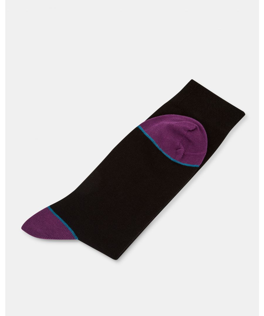 Image for Jack Contrast Heel And Toe Sock in Black