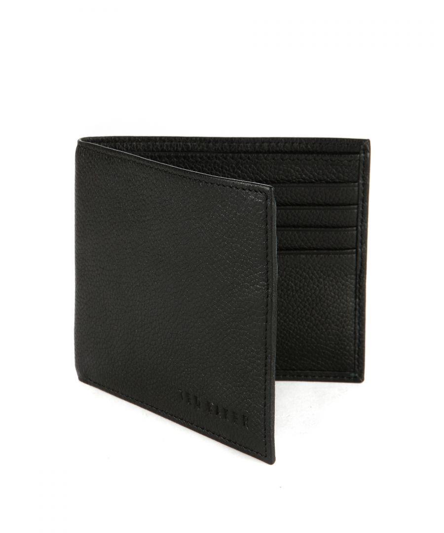 Image for Ted Baker Anville Logo Leather Bifold Wallet, Black