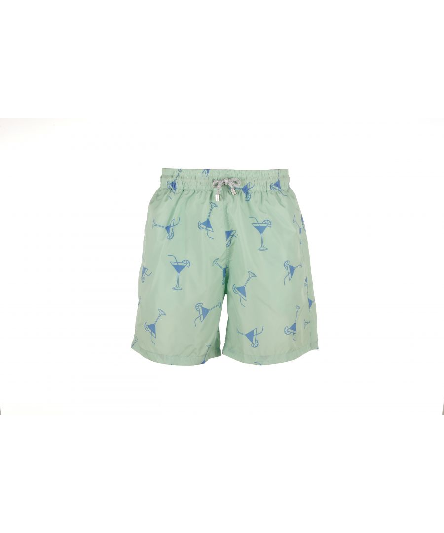 Image for Boy's Green Cocktail Swim Shorts