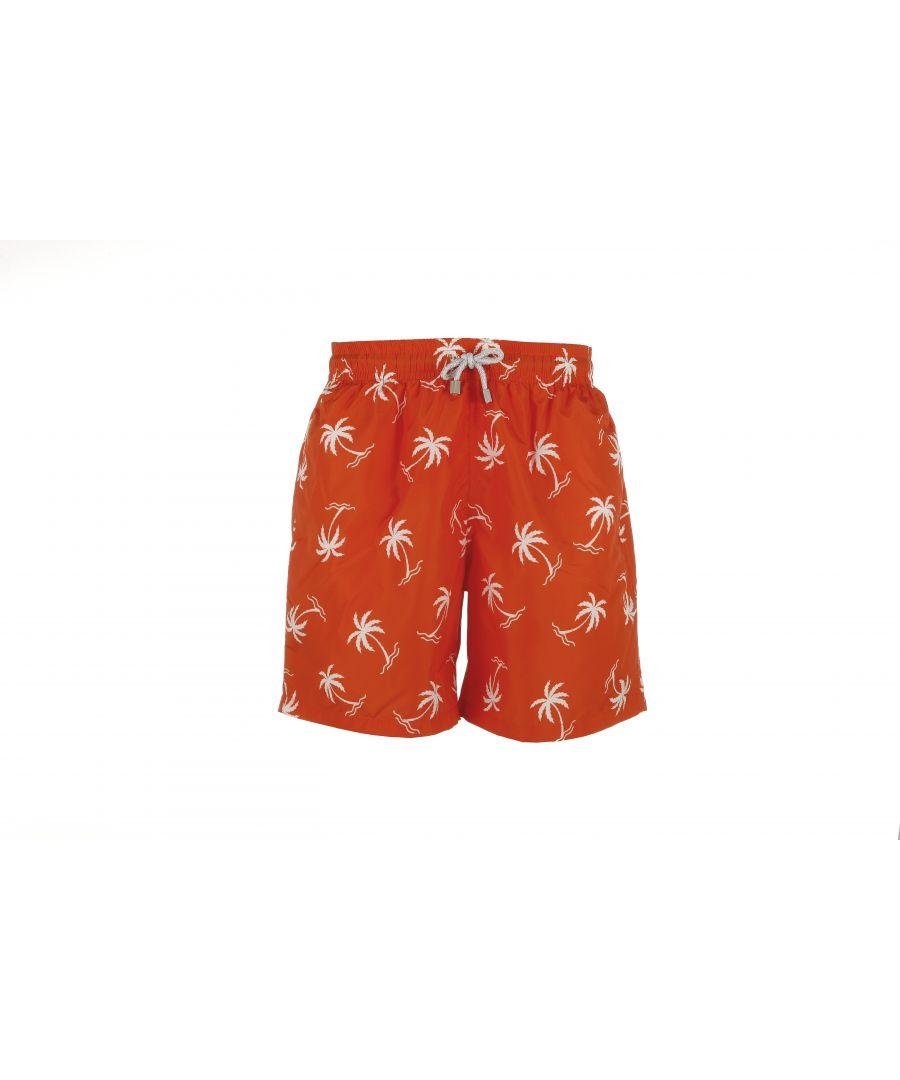 Image for Boy's Orange Palm Tree Swim Shorts