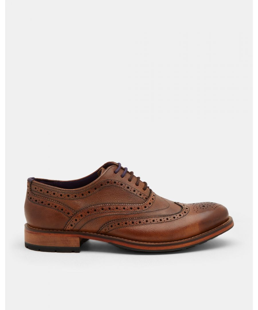 Image for Guri Leather Oxford Brogue in Tan