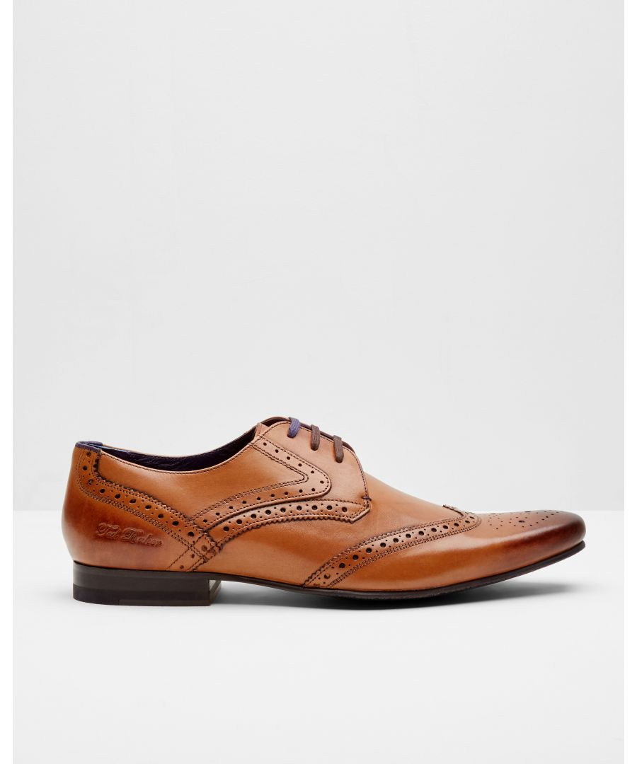 Image for Hann Leather Derby Brogue in Tan