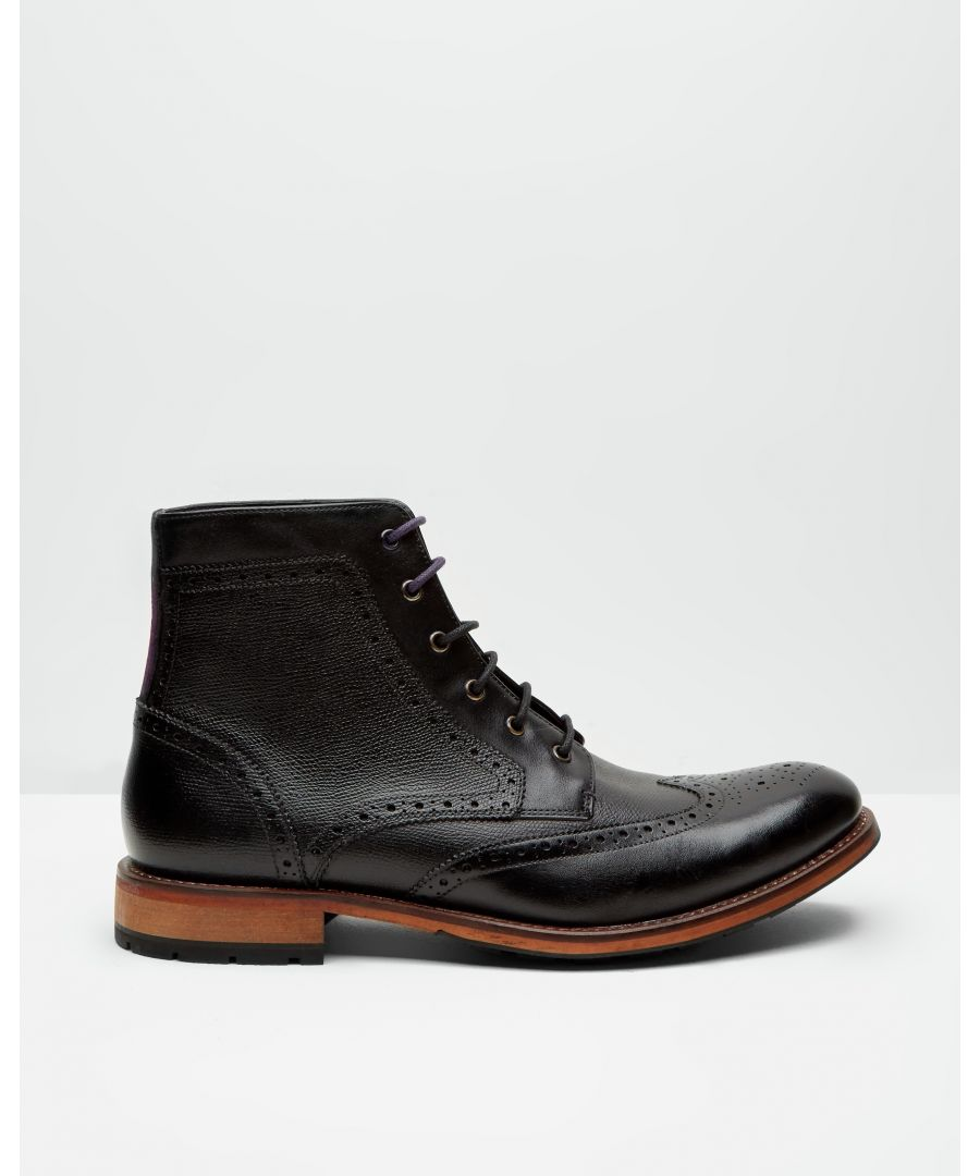 Image for Ted Baker Sealls3 Wingtip Brogue Leather Ankle Boots, Black
