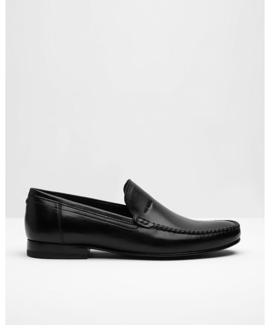 Image for Simeen Leather Loafer in Black