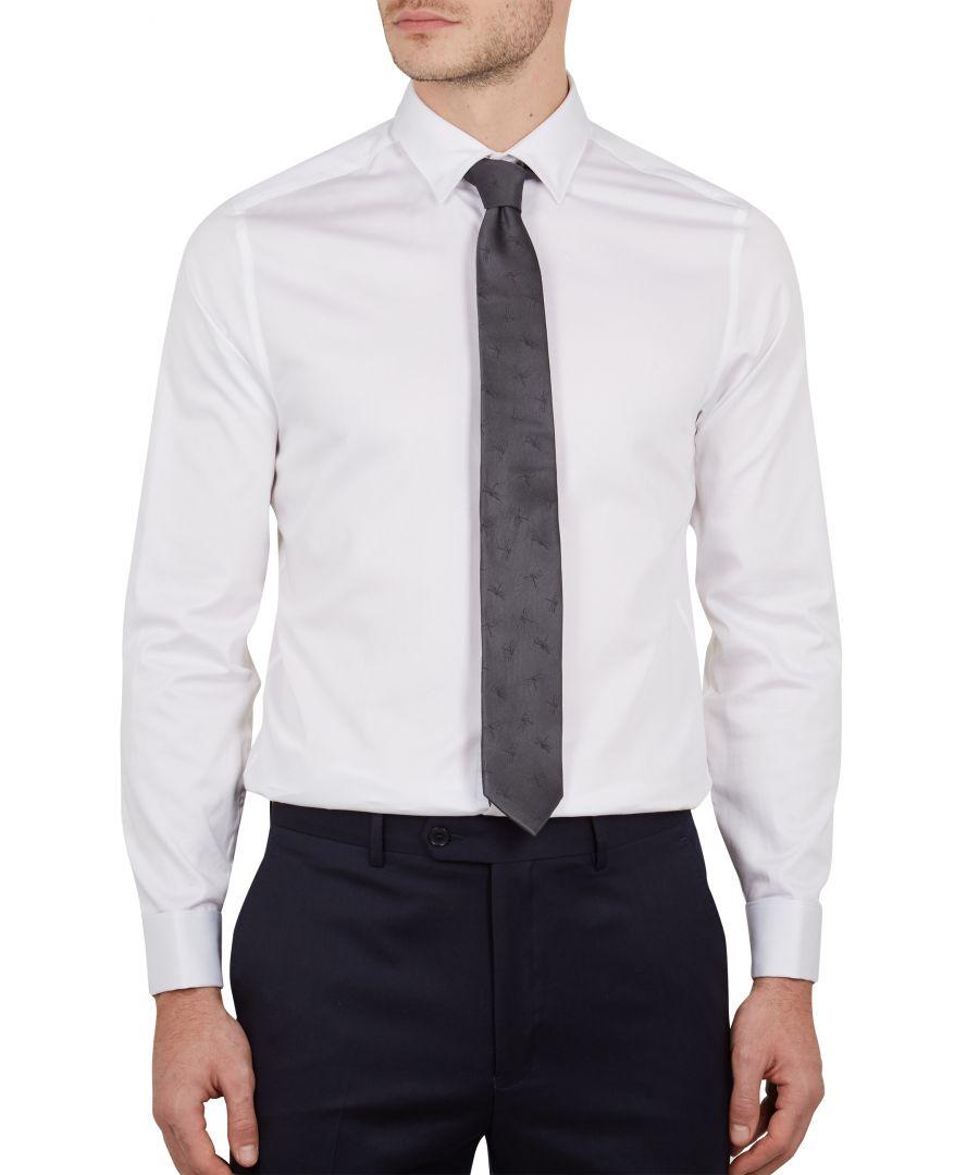 Image for Mufasi Longsleeve Plain Phormal Shirt in White