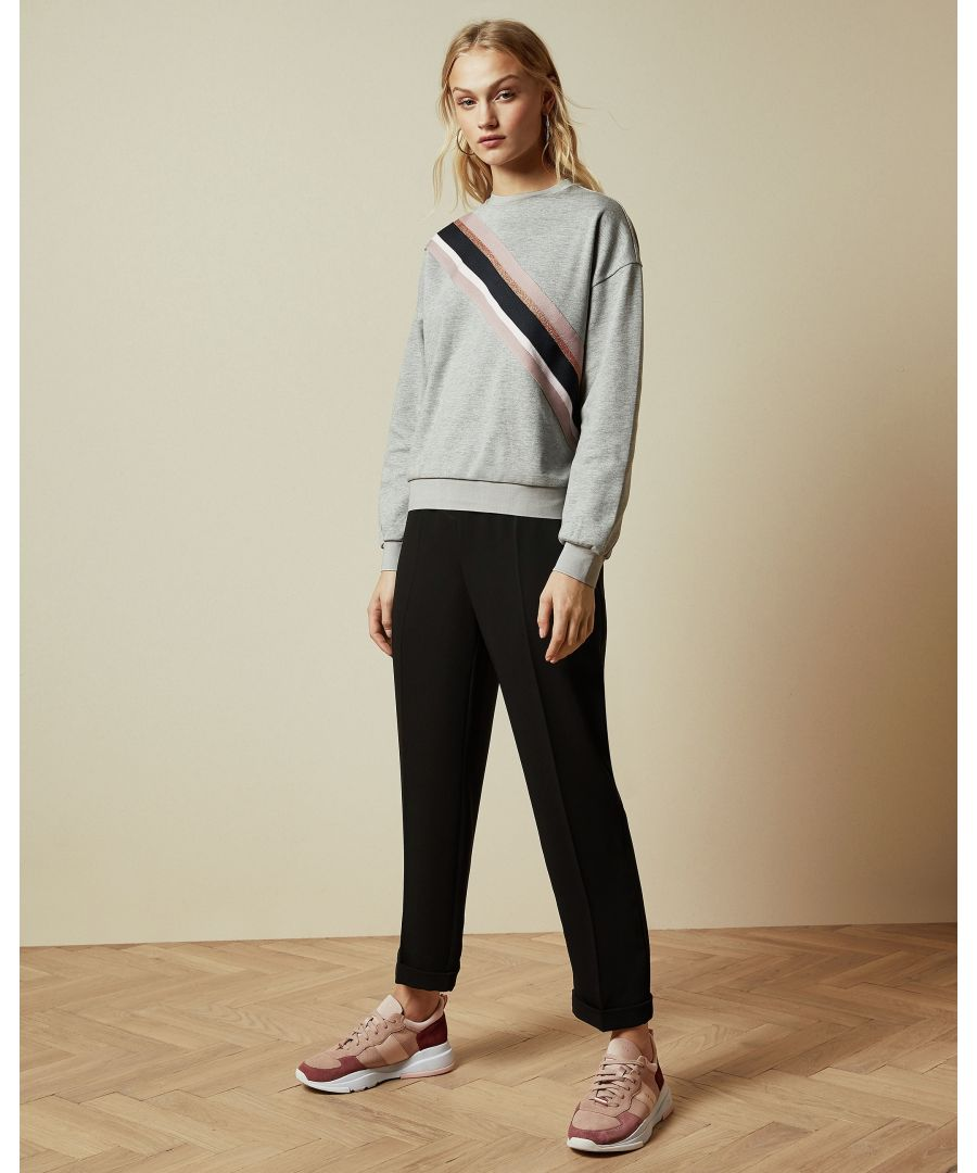 Image for Ted Baker Heysin Grosgrain Detail Sweater, Grey