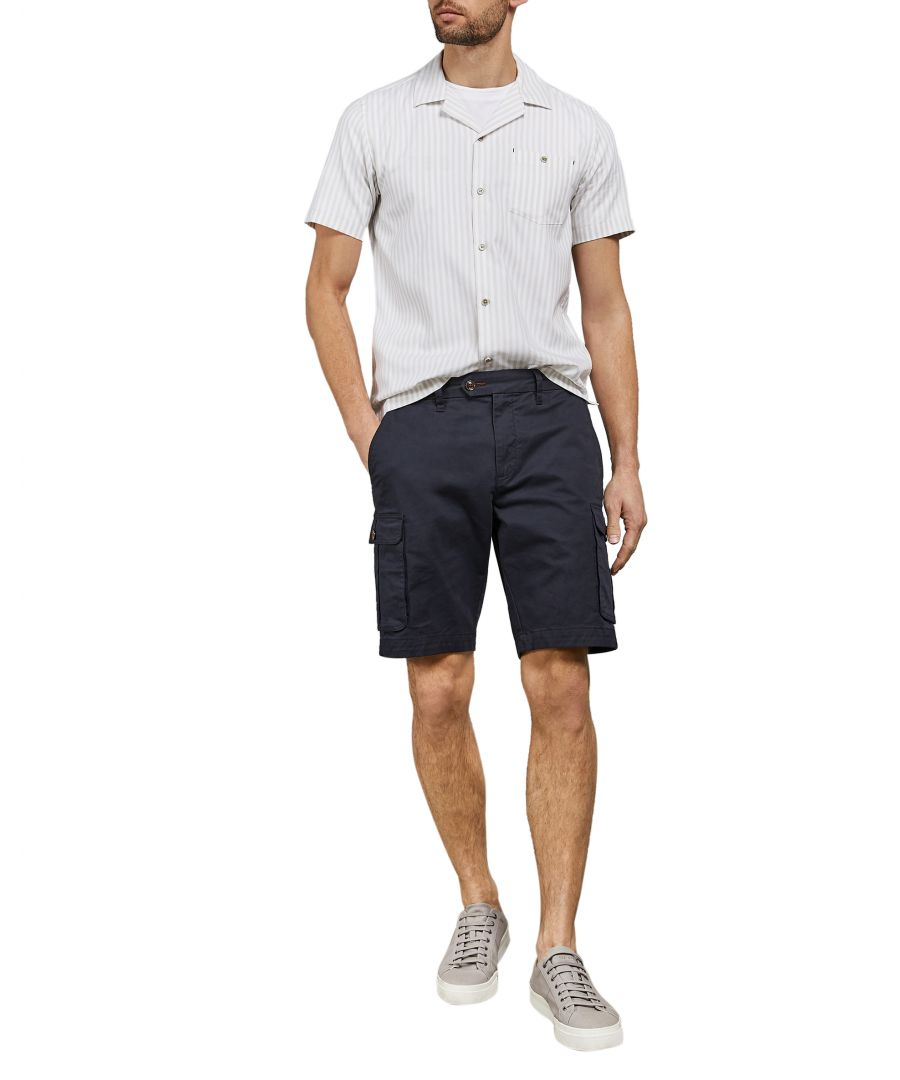 Image for Long Shortsleeve Revere Striped Shirt in Natural