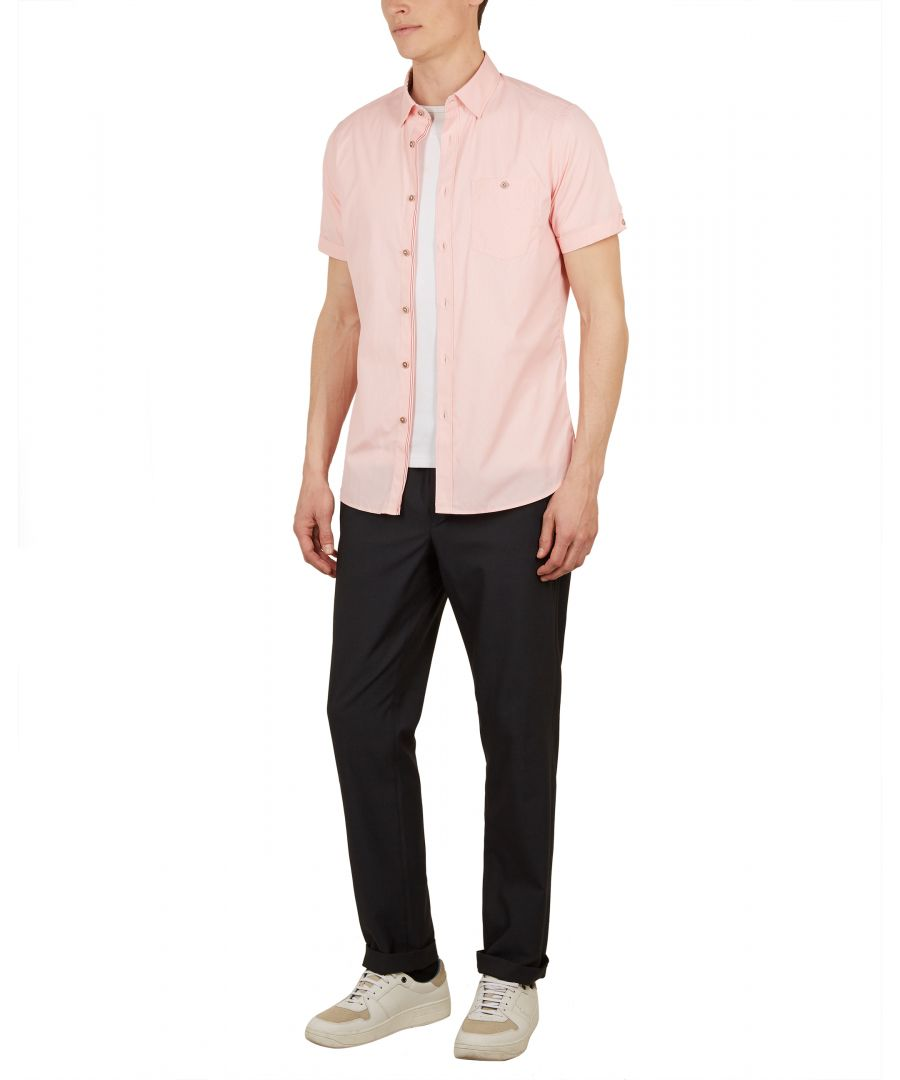 Image for Walman Shortsleeve Fine Stripe Shirt in Red