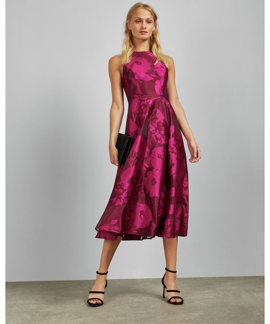 Image for Ted Baker Wylieh Sleeveless Lace Midi Dress, Deep Pink